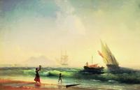 Встреча рыбаков на берегу Неаполитанского залива (И.К. Айвазовский)