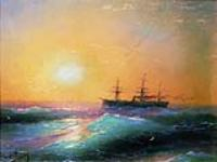Закат на море. 1886