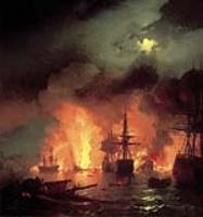 Чесменский бой в ночь с 25 на 26 июня 1770года. 1848