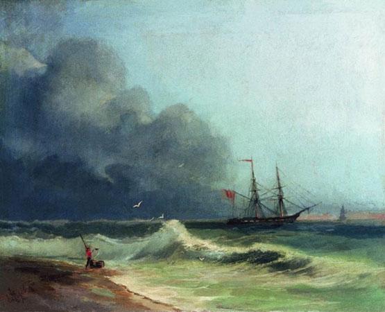 Море перед бурей. (Айвазовский И.К.)