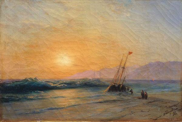 Заход солнца на море. (Айвазовский И.К.)