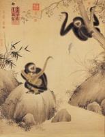 Гиббоны играют (Чжу Чжаньцзи, 1427 г.)