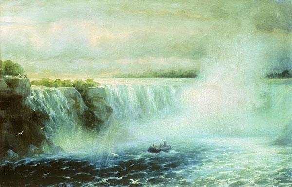 Ниагарский водопад. (Айвазовский И.К.)
