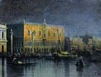 Дворец дожей в Венеции при луне. 1878