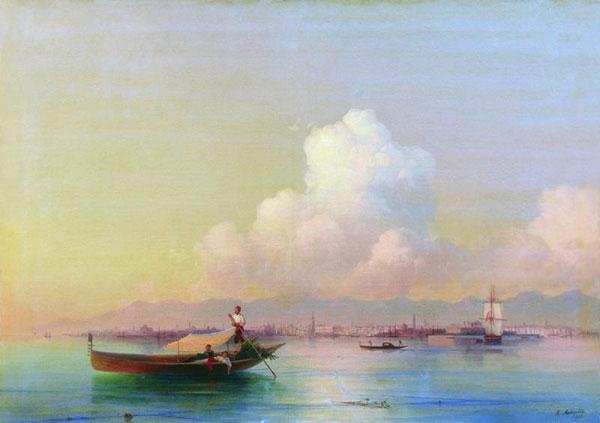 Вид Венеции со стороны Лидо. (Айвазовский И.К.)